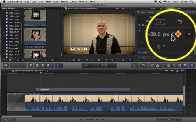 Key Frames and Animation In Final Cut Pro X - Izzy Video 192 • Izzy ...