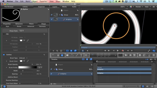 How to Make an Animated Vine or Animated Flourish in Motion 5 ...